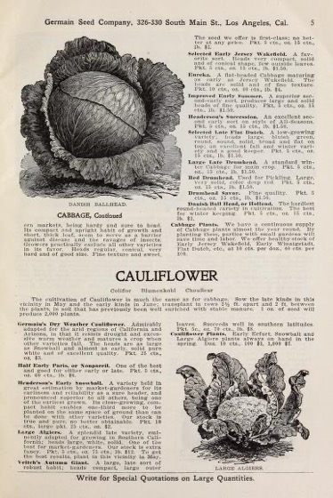 Historical Seed Catalogs - 107 in a series - General list of high-grade seeds (1908) by Germain Seed and Plant Company