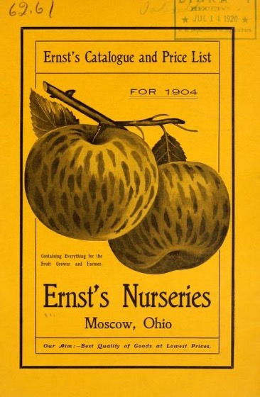 Historical Seed Catalogs - 110 in a series - Ernst's catalogue and price list for 1904