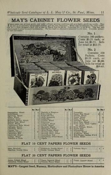 Historical Seed Catalogs - 111 in a series - May's Northern-Grown Seeds : Wholesale Seed Catalog, January 1914