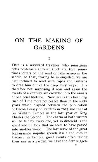 Historical Garden Books - 127 in a series - An essay on the making of gardens; being a study of old Italian gardens, of the nature of beauty, and the principles involved in garden design (1909) by Sir George Reresby Sitwell
