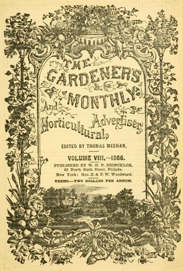 Historical Garden Books - 131 in a series - The Gardener's Monthly And Horticultural Advertiser (1859)