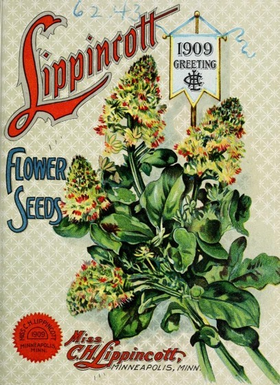 Historical Seed Catalogs - 115 in a series - Lippincott Flower Seeds: 1909 Greeting