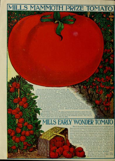 Historical Seed Catalogs - 121 in a series - Seed annual (1912) by Mills Seed Company