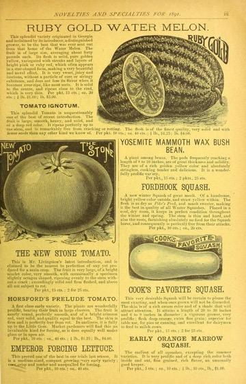 Historical Seed Catalogs - 122 in a series - Dreer's garden calendar (1891)