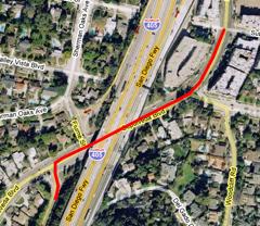 Sepulveda Blvd lane change