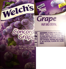 Welch's Concord Grape Package Information