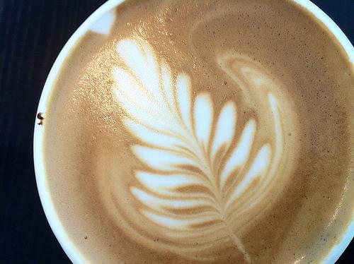 Latte art from M Street Cafe