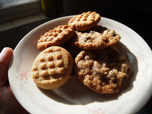 The sixth day of cookies…Peanut Butter and Oatmeal Chocolate Chip
