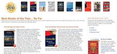 Amazon presents Best Books of 2010…so far