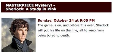 Must See TV: Sherlock on Masterpiece