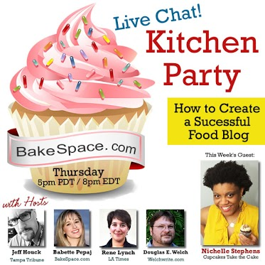 Video: #KitchenParty – How to publish a successful food blog w/ Nichelle Stephens from Cupcakes Take the Cake! – Recorded Version