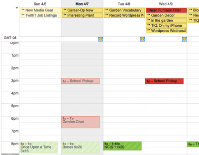 Calendar dew
