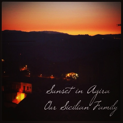Sunset in agira