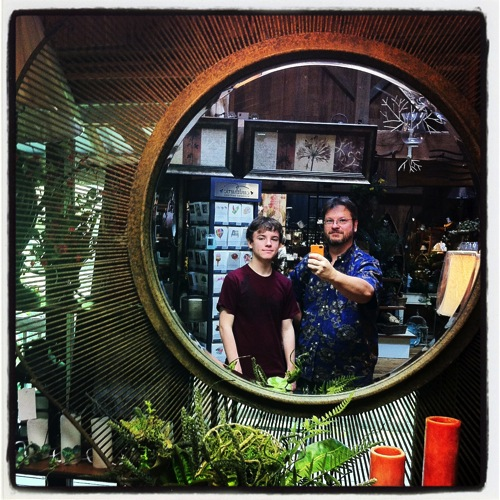 Photo: Douglas and Joseph reflection at Naturally Country, Norwalk, Ohio, 2013