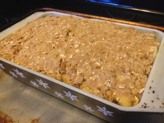 New Food: Maple-Walnut Apple Crisp - Assembled