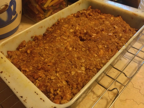 New Food: Maple-Walnut Apple Crisp - After Baking