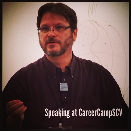 Speaking at CareerCampSCV 2014 via #instagram