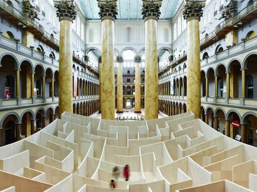 BIG Maze Opens at National Building Museum via Arch Daily
