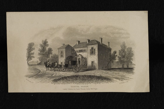 Gretna green historical etching