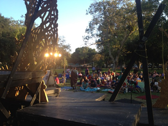 Backastage at Shakespeare by the Sea in Encino