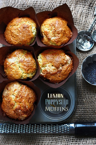 Lemon Poppyseed Muffins~ and Spooky things:) via La Table de Nana