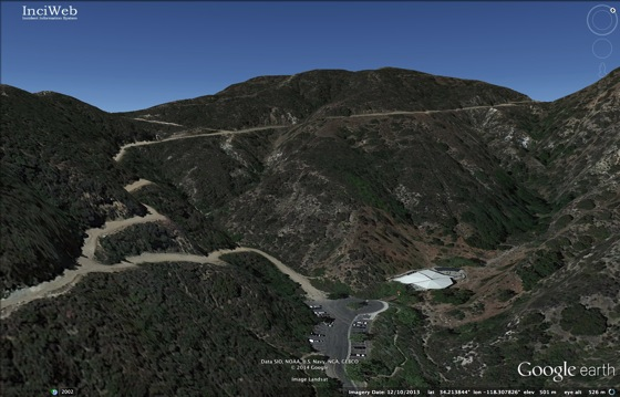 Stough Canyon via Google Earth