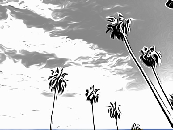 Palm trees toonpaint