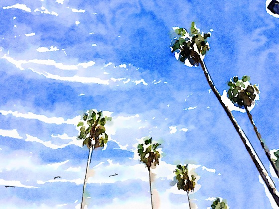 Palm trees watercolor 1