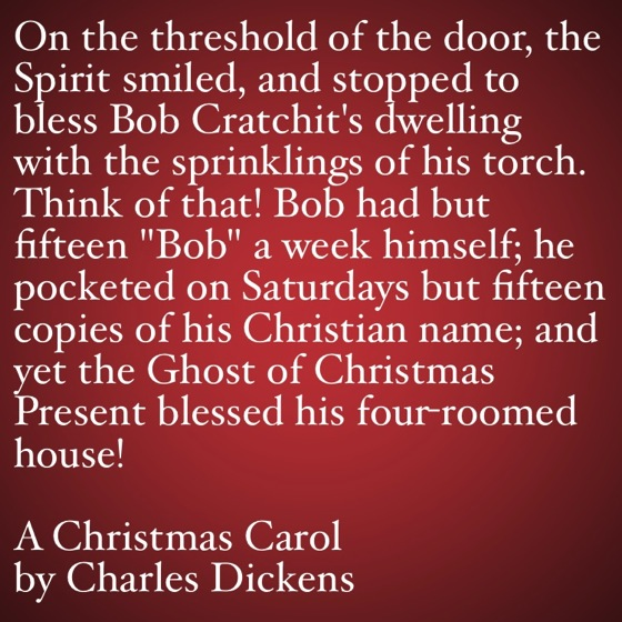 My Favorite Quotes from A Christmas Carol #29 -  Bob Cratchit's house