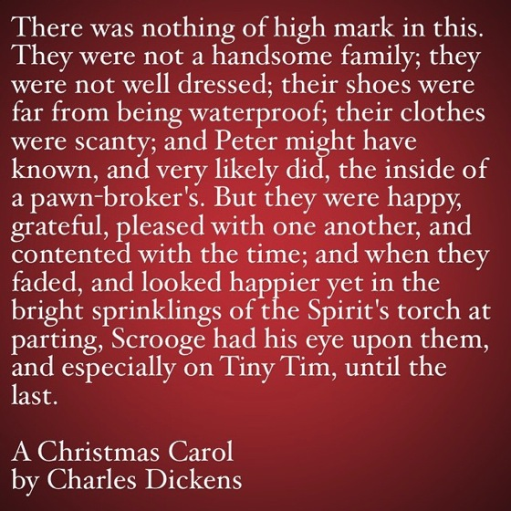 My Favorite Quotes from A Christmas Carol #30 - There was nothing of high mark in this