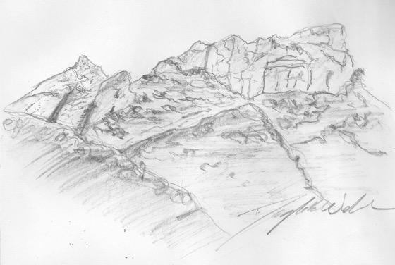 Art: View from Circle X Ranch, Santa Monica Mountains, California