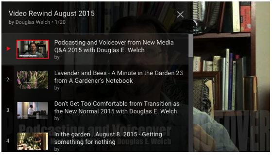 Video Rewind for August 2015 – What did you miss on DouglasEWelch .com? — 20 Videos [Video]
