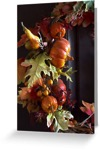 Autumn wreath cards
