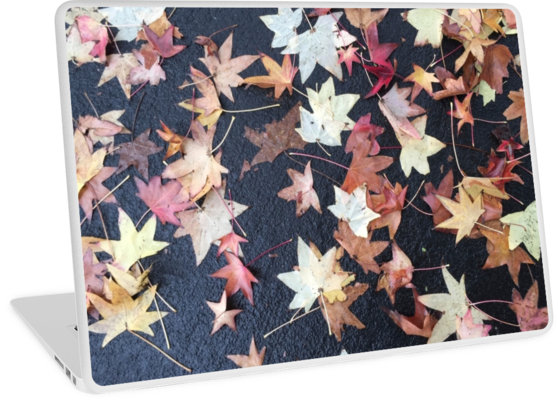 """""""Autumn Leaves Start to Fall"""" – Laptop skins and sleeves, bags, pillows…and more for your office and home!"""