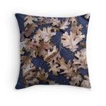 Oak leaves pillow