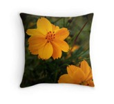 Yellow flower pillow