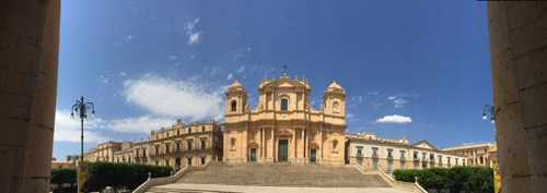 Cathedral of Noto La Chiesa Madre di San Nicolò Panorama  2