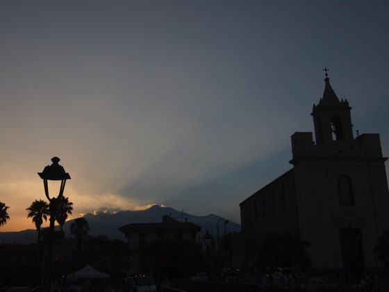 Stazzo at Sunset with Etna in the background