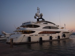 Luxury Yacht in Siracusa Harbor