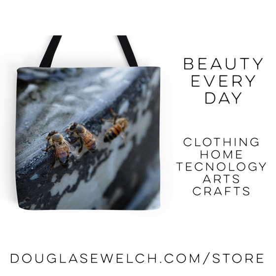 Bees Take A Drink - Clothing - Home - Technology - Arts - Crafts - Exclusively from http://DouglasEWelch.com #products #photography #bees #insects #garden #clothing #technology #home