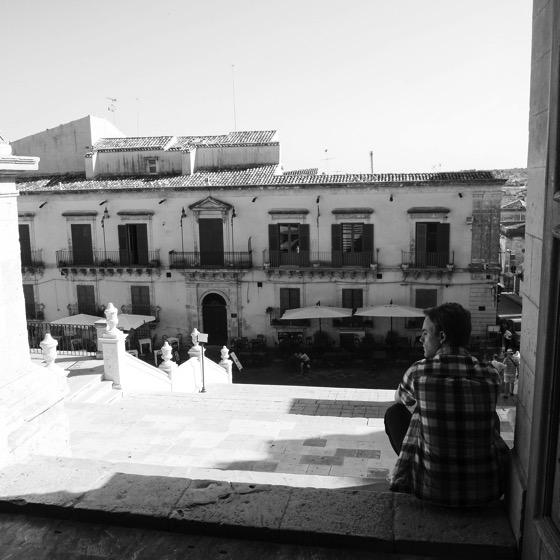Joseph in Noto, Sicily, Italy #sicily #italy #travel #noto #architecture #bw #blackandwhite #blackandwhitephotography