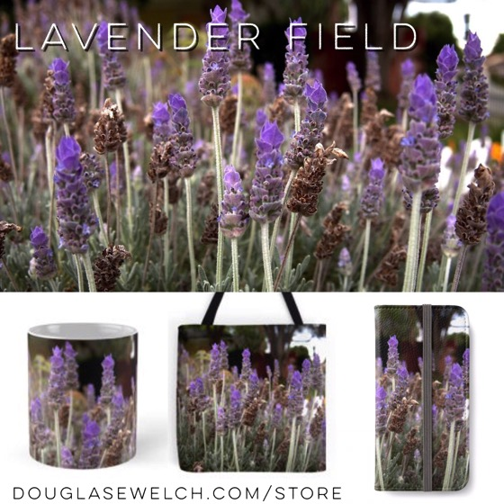 Get these Lavender Field bags, clothing, smartphone cases and more exclusively from Douglas E. Welch