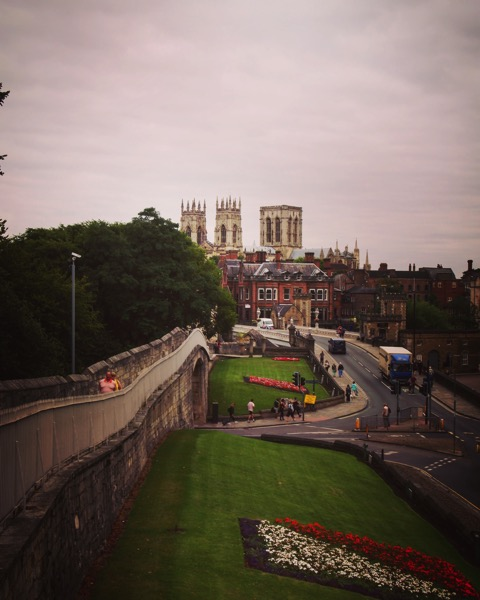 On the walls of York with York Minster in the distance #York #Uk #travel #architecture #travel #history