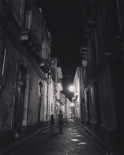 Acireale at Midnight 5 #acireale #sicily #italy #travel #blackandwhitephotography #blackandwhite #streetscene #night