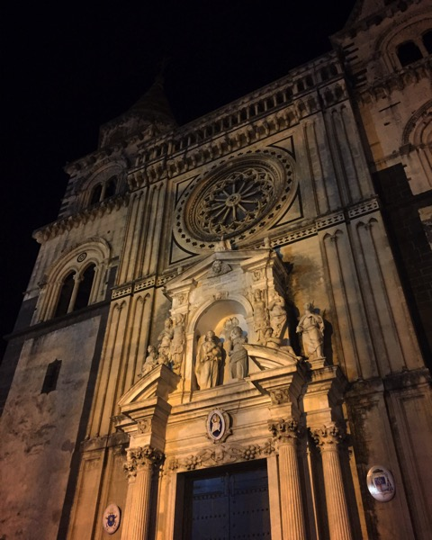 Acireale at midnight #acireale #sicily #italy #travel #church #architecture #night
