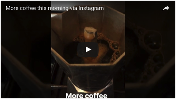 More morning coffee via Instagram Stories [Video]