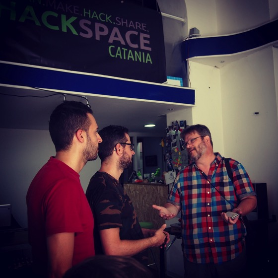 Visiting @hackspace_catania back in July #hackspace #makerspace #italy #sicily #hackerspace #travel #maker