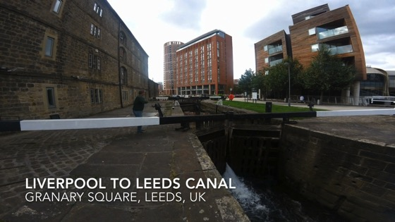 Canal Lock Time-lapse, Liverpool to Leeds Canal, Granary Wharf, Leeds, UK