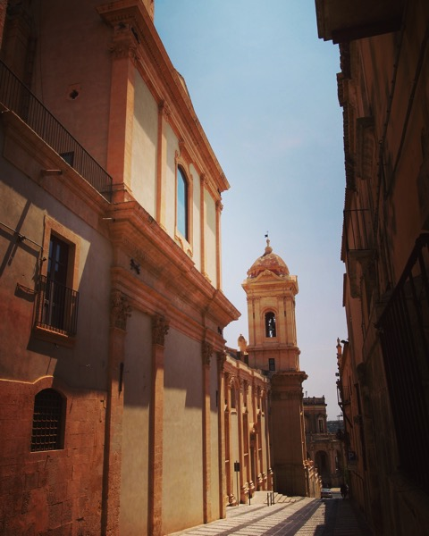 Noto street scene #Noto #Sicily #Italy #travel #architecture #building #structure
