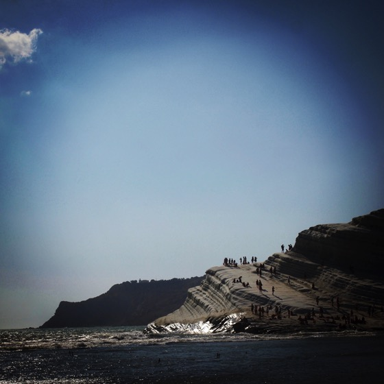Scala dei Turchi from a distance down the beach #scaladeiturchi #sicily #italy #travel #geology #sea #mare #outdoors #nature #rocks